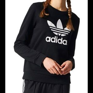 Adidas Trefoil Black Sweat Shirt
